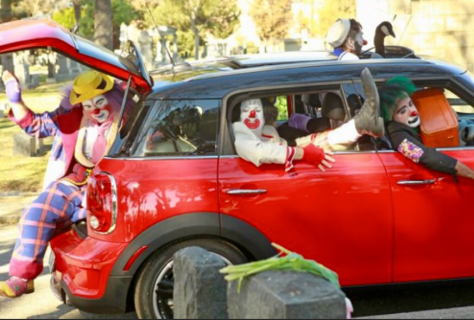Stuffing clowns into a car