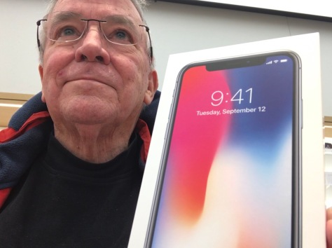Me with my new Apple iPhone X at my local Apple Store.